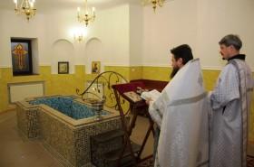 Освящение крестильни храма
